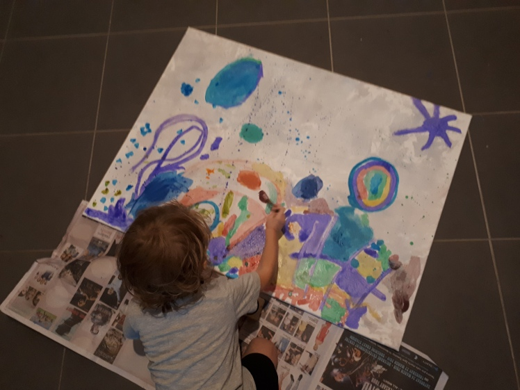 canvas art at 3 years of age