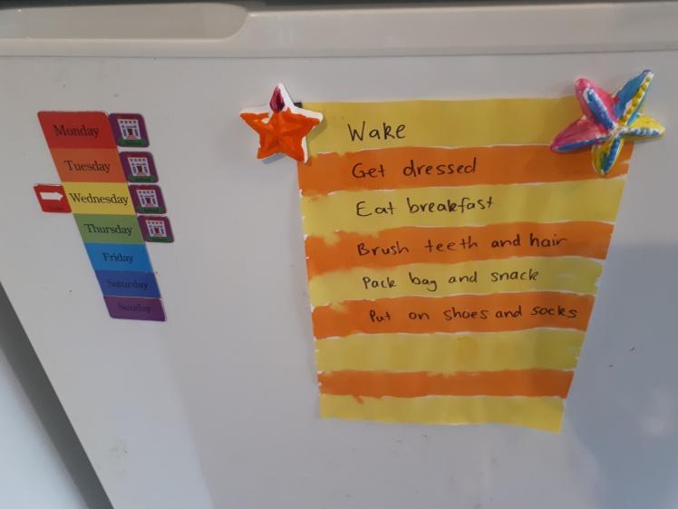 Daily rhythm- school days getting ready guide