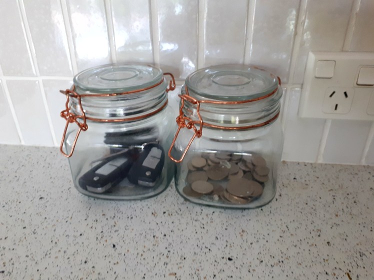 Getting organized- a space for keys and coins.jpg
