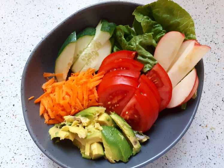 basic plant-based salad
