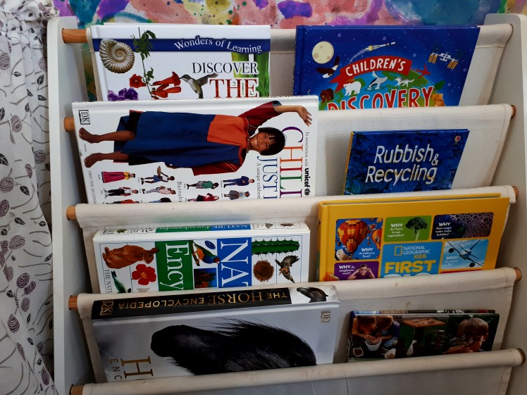 children's reference book shelf