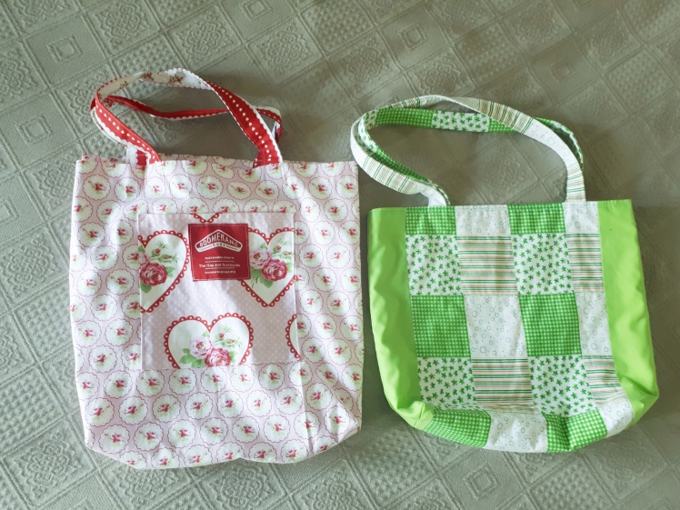 Hand made library bags.jpg