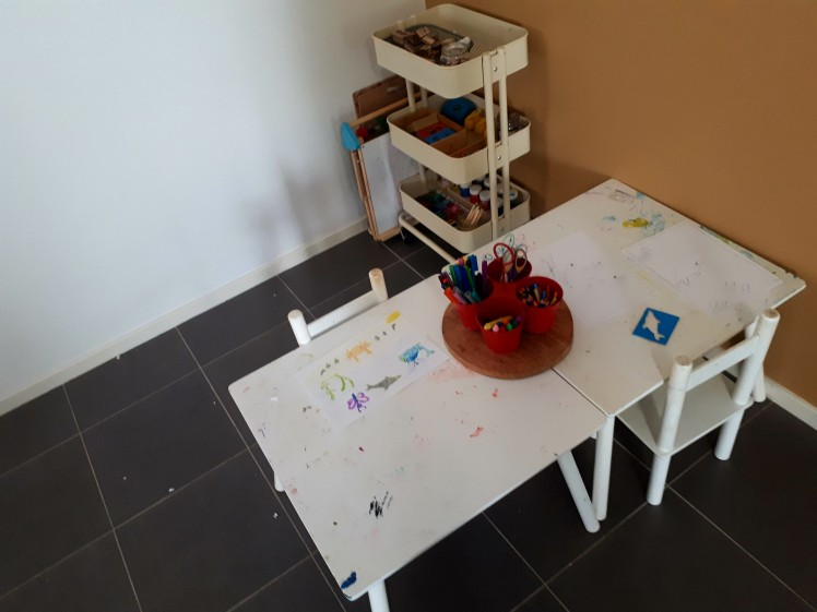 childrens art nook