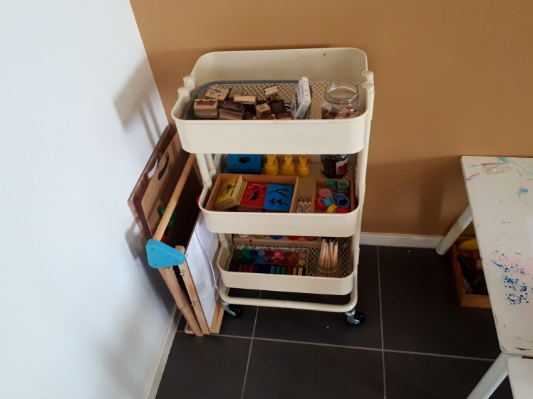 childrens art trolley