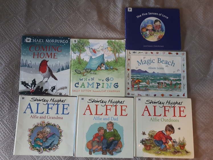 Library books for faily story time.jpg