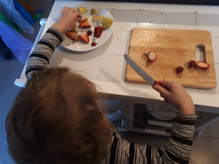Kids in the kitchen- Fathers Day breakfast