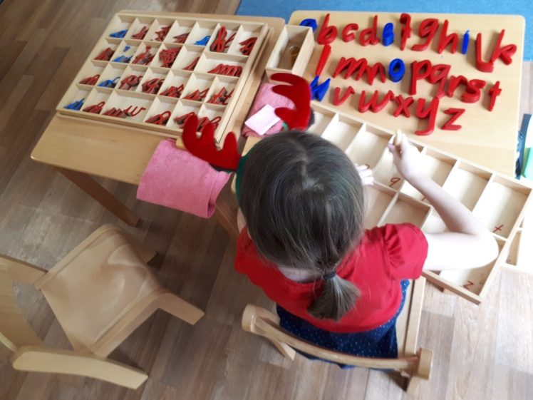 Care of environment- cleaning Montessori materials