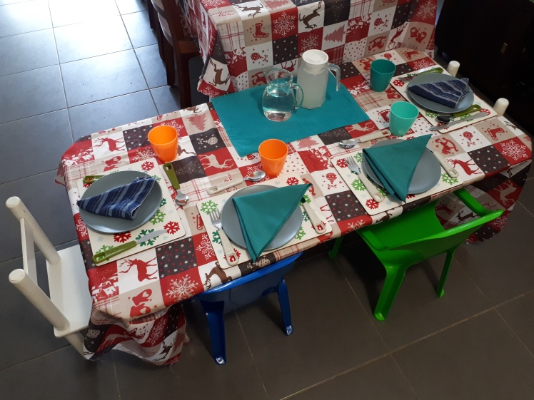 Christmas 2018 family gathering- childrens table
