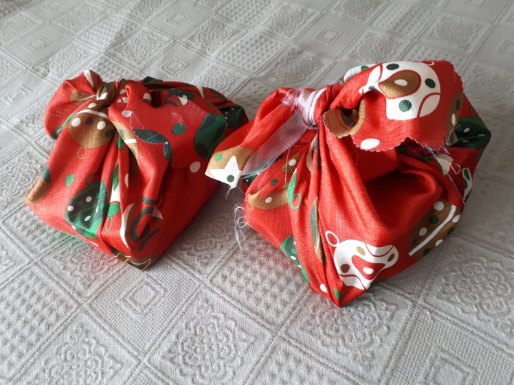 cloth Christmas present wrapping- furoshiki style.jpg