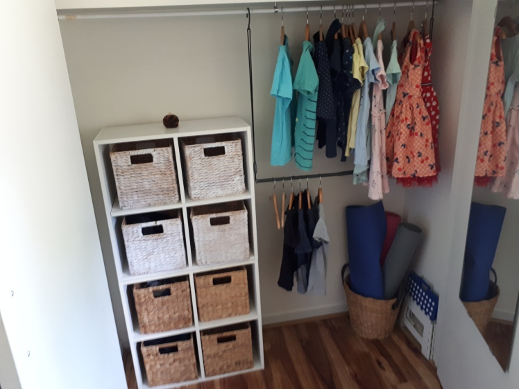 curating kids spaces- childrens shared wardrobe