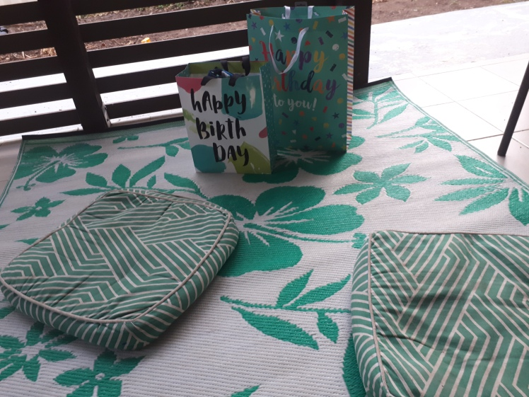 Birthday presents- with reused gift bags