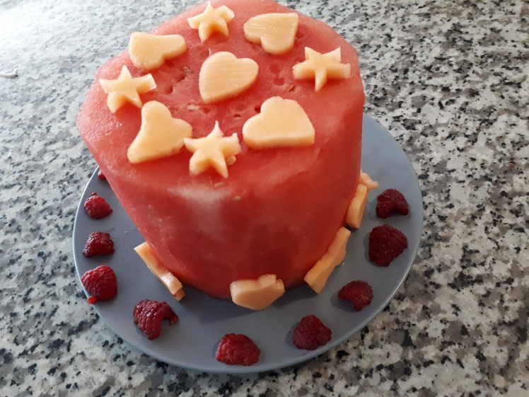 Miss 7s watermelon Birthday cake