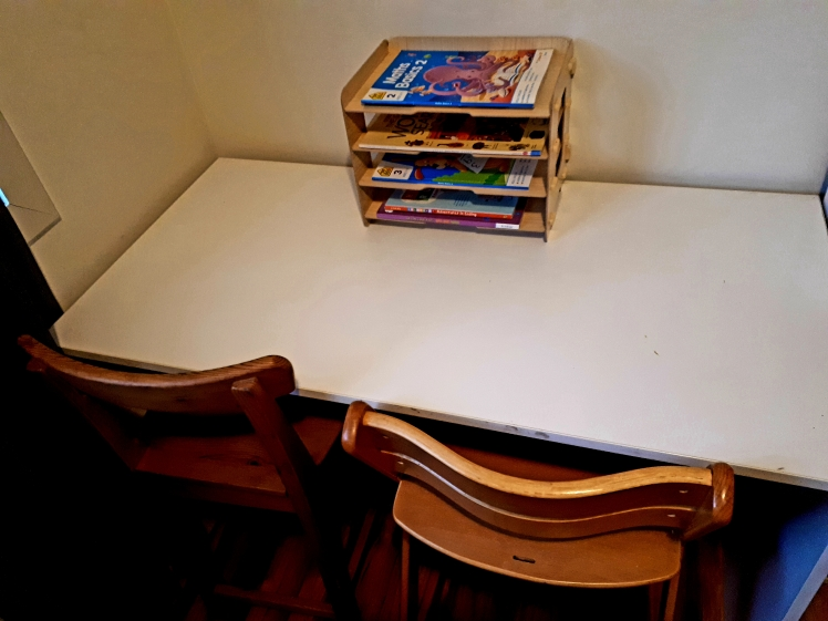 childrens shared study desk