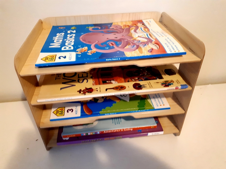 children's workbook storage