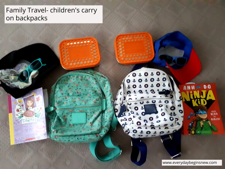 Travel with kids carry on backpack