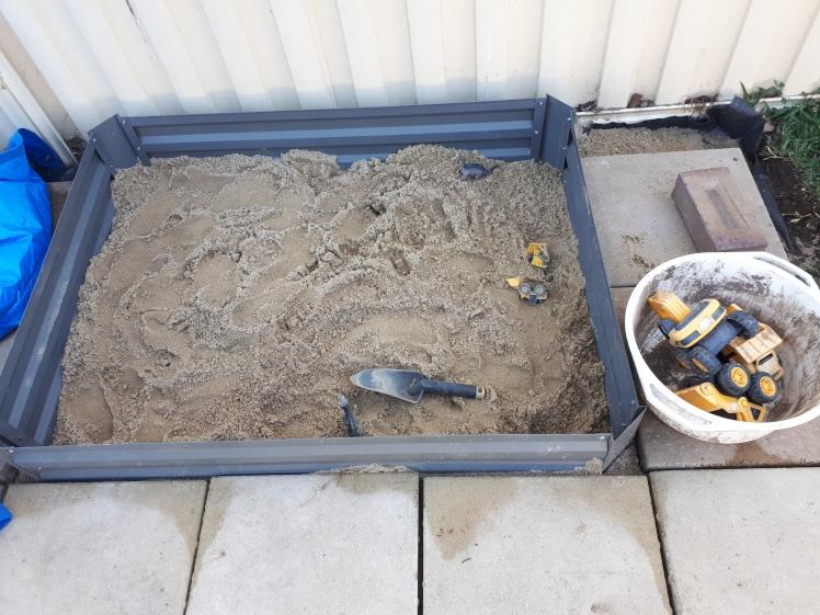 DIY sandpit