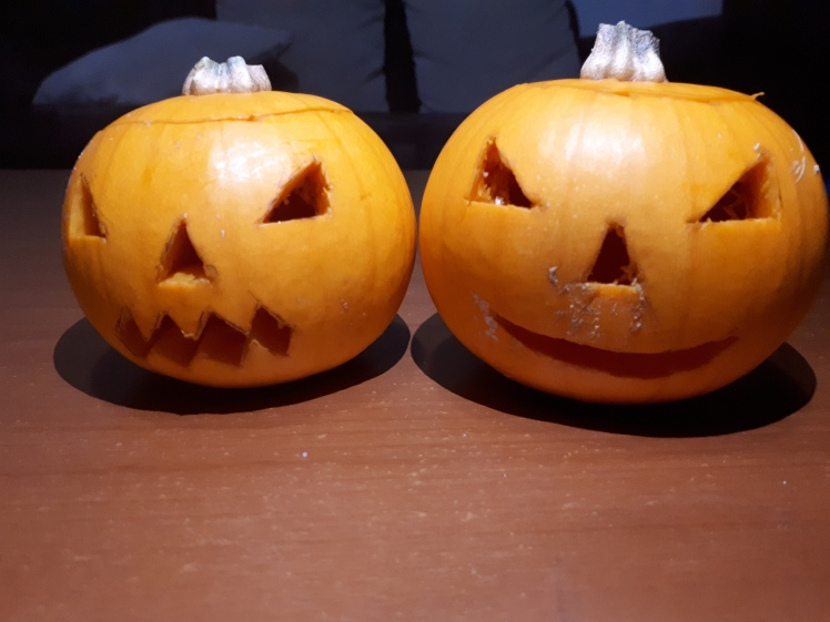 Kids Halloween jackolantern craft