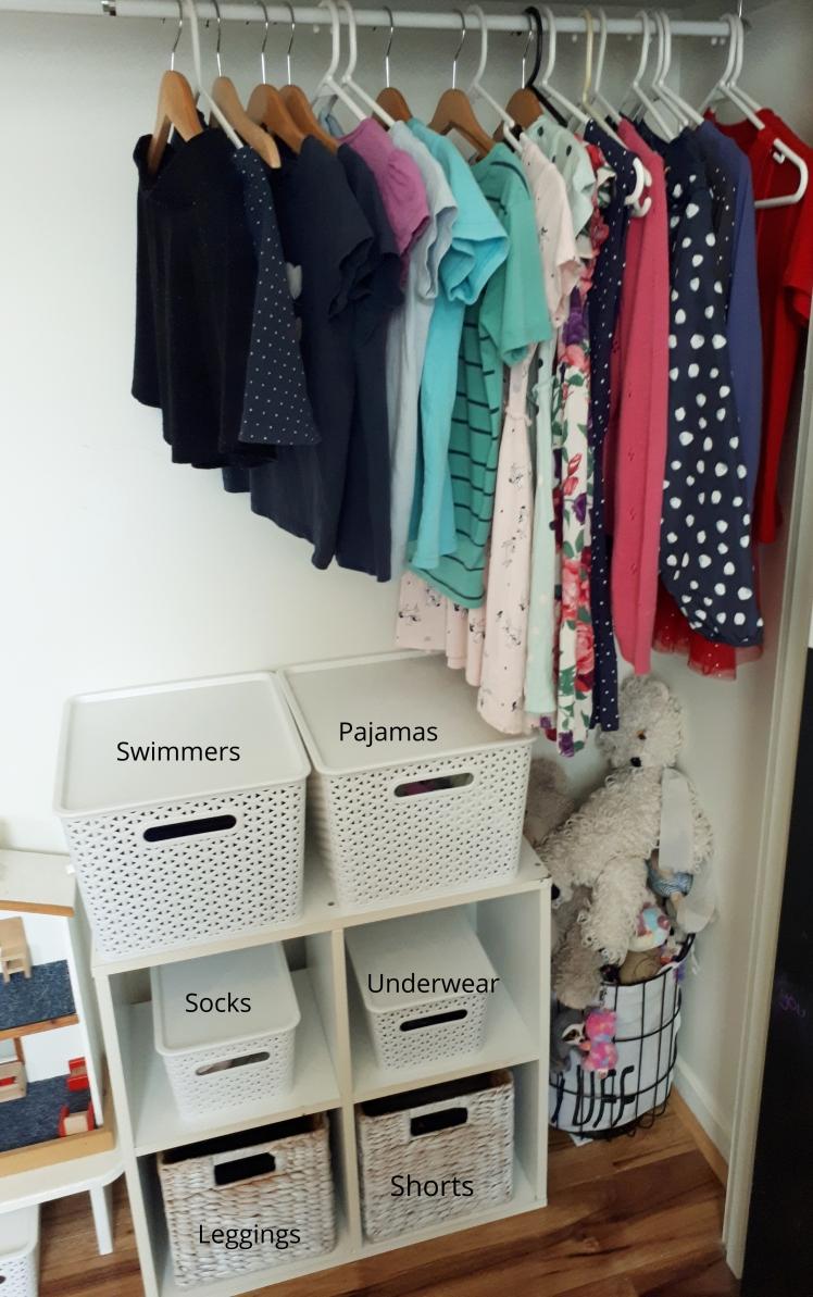 Montessori at home- childrens wardrobe 2