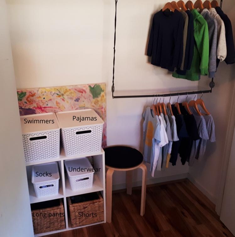 Montessori at home childrens wardrobe 3