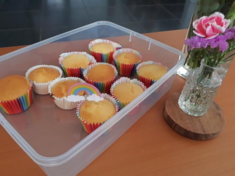 PB Birthday cupcakes