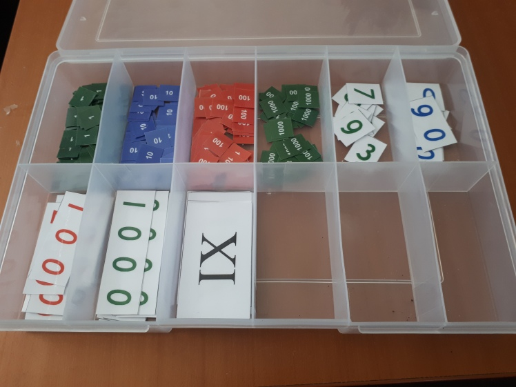 Montessori math support box
